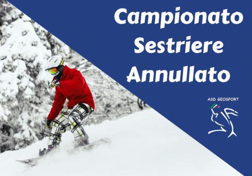 Comunicato Geosport: annullamento del campionato di sci nordico e alpino causa Coronavirus